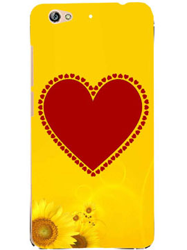Red Hearts Vs Yellow Sunflower Mobile Cover