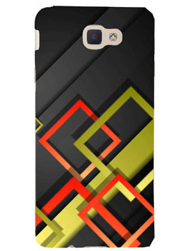 Abstract Coloured Squares Mobile Cover