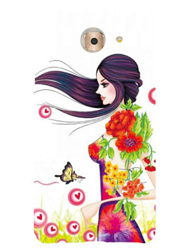 Beautiful Girl With Flowers & Buttefly Mobile Cover