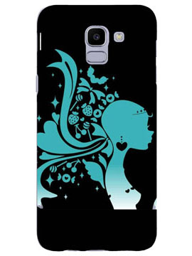 Beatuful Girl Hair and Heart Mobile Cover