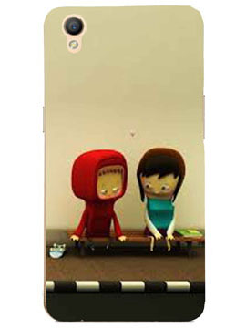 Boyfriend Girlfriend on a Bench Mobile Cover