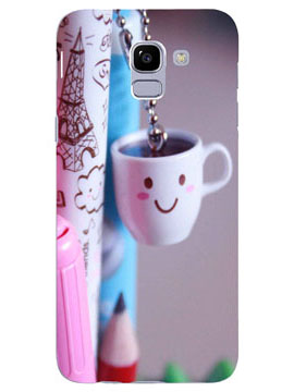 Smiling Emonji on a Cup Mobile Cover